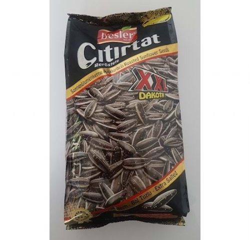 Besler Roasted Sunflower Seeds XXL Dakota Extra Salted  ( Black ) 250g Packet  (Turkey)